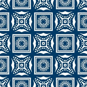 Chinese Indigo Tiles ~ Bian ~ Variation Ba