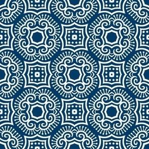 Chinese Indigo Tiles ~ Bian ~ Variation Jio
