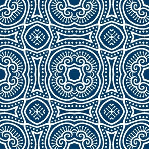 Chinese Indigo Tiles ~ Bian ~ Variation Shyr