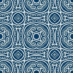 Chinese Indigo Tiles ~ Bian ~ Variation Shyr