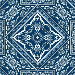 Chinese Indigo Tiles ~ Bian ~ Variation Shyr Ehr