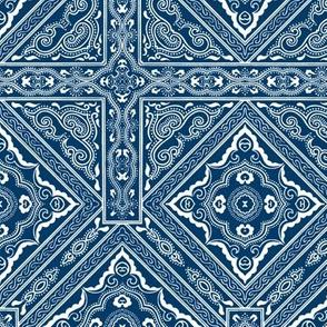 Chinese Indigo Tiles ~ Bian ~ Variation Shyr San