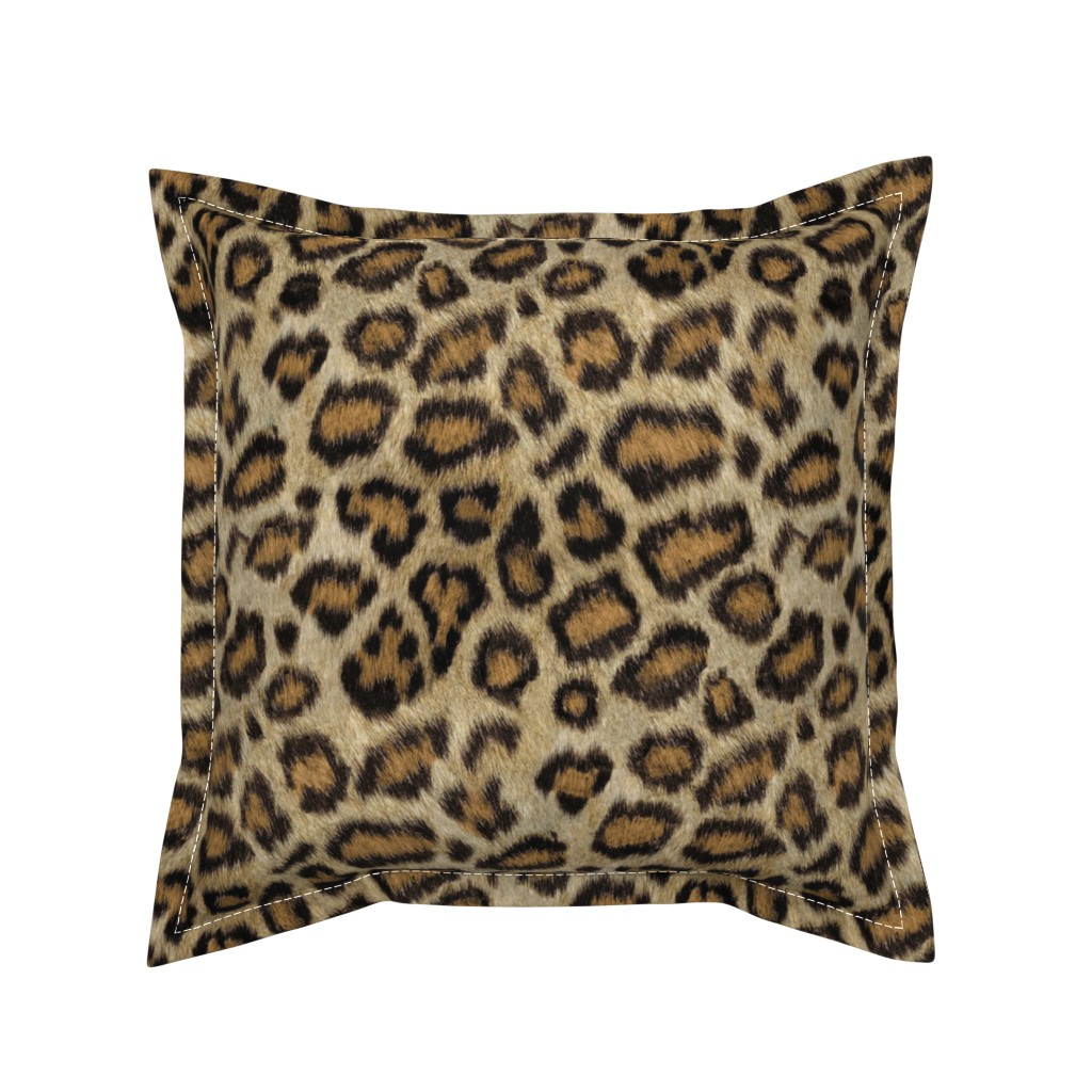 Serama Throw Pillow featuring Etosha Leopard by willowlanetextiles