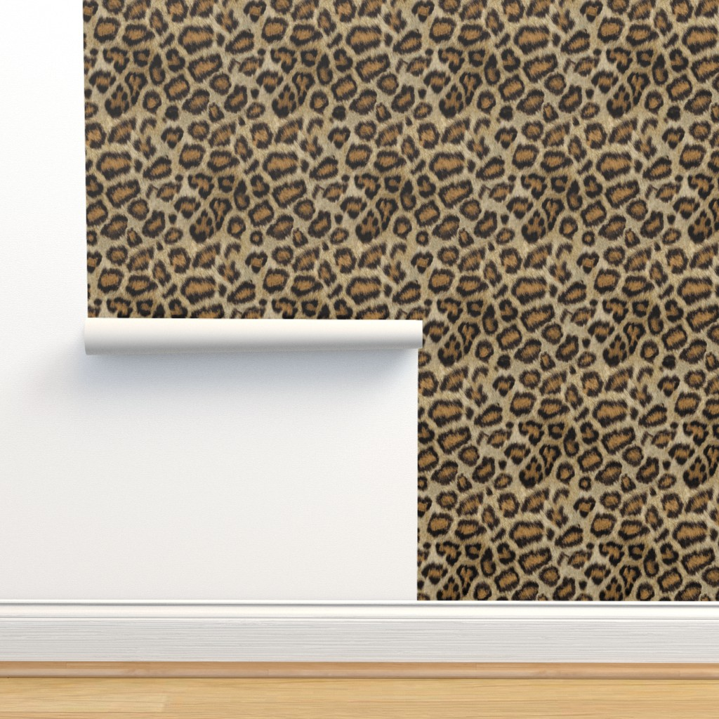 Isobar Durable Wallpaper featuring Etosha Leopard by willowlanetextiles