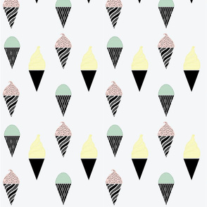 Ice Cream Cone Fabric 2