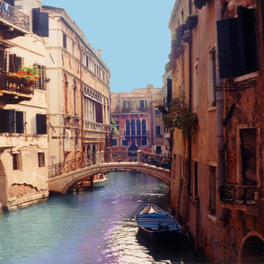Venezia Canal Colors Pillow
