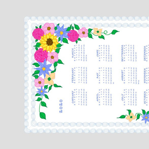 2020 Calendar cake tea towel