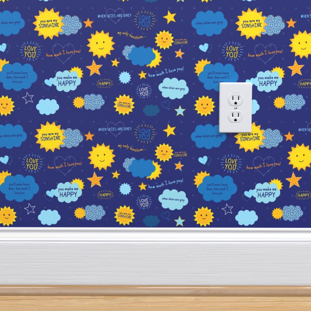 You Are My Sunshine On Isobar By Collide Prints Roostery Home Decor