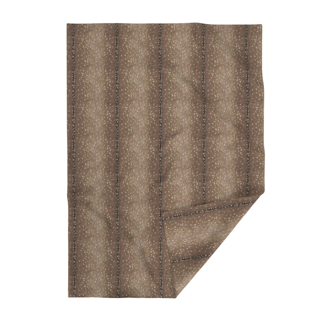 Lakenvelder Throw Blanket featuring Deer Hide Fabric and Wallpaper in Taupe by willowlanetextiles