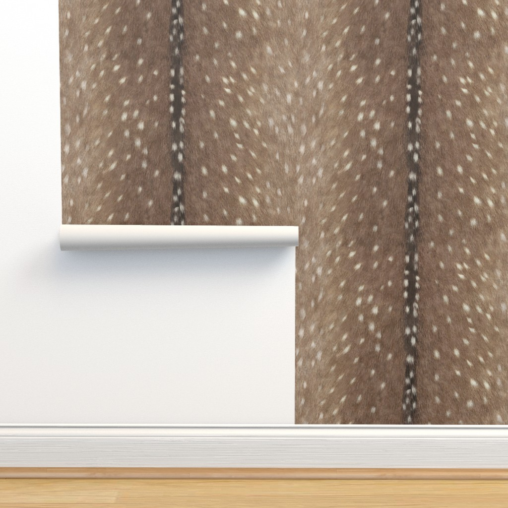 Isobar Durable Wallpaper featuring Deer Hide Fabric and Wallpaper in Taupe by willowlanetextiles
