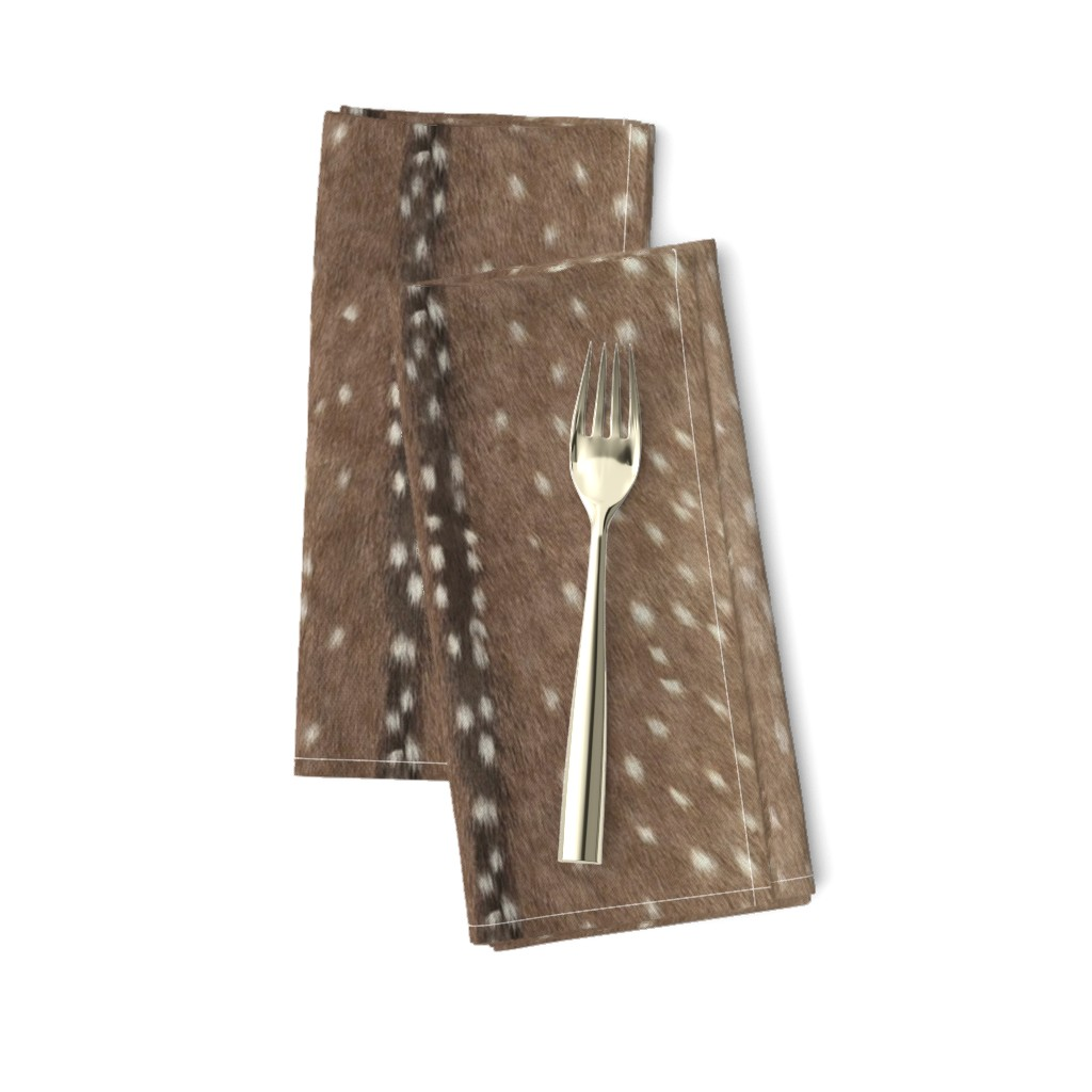 Amarela Dinner Napkins featuring Deer Hide Fabric and Wallpaper in Taupe by willowlanetextiles