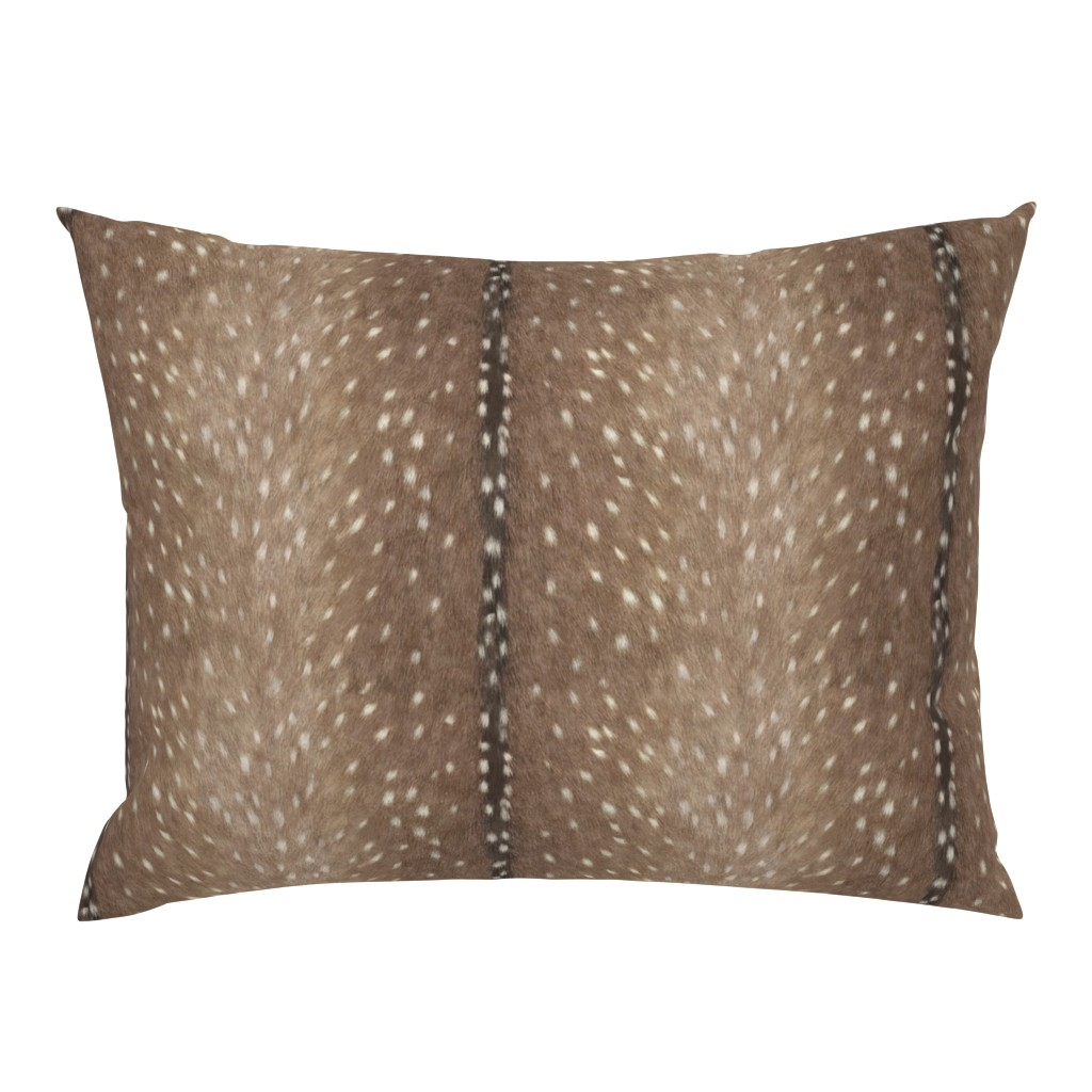 Campine Pillow Sham featuring Deer Hide Fabric and Wallpaper in Taupe by willowlanetextiles