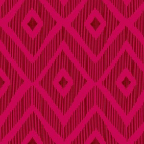 Ikat red & pink