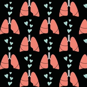 Coral lungs and mint hearts
