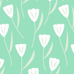 Tulips Mint (Serene)