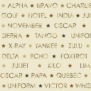 nautical alphabet - antique