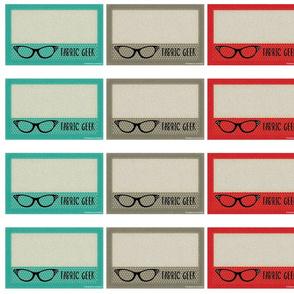 "Quilt Label 6 x 3.75"" ""Fabric Geek"""