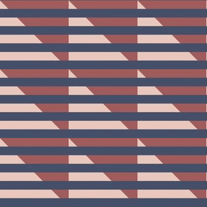 blue stripes on pink houndstooth | pencilmeinstationery.com