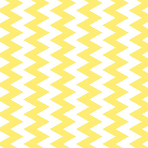 Yellow And White Zigzag