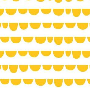 sunny stormy scallops yellow
