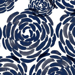 Naomi, blue watercolor flowers