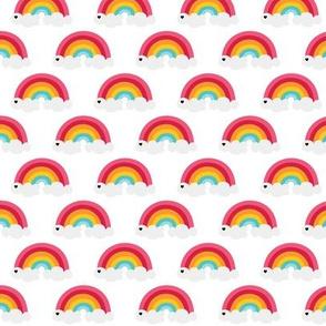 sunny stormy rainbows on white