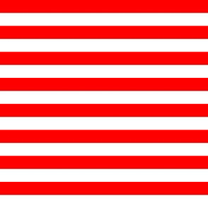 Red and White Stripes Half Inch Christmas July 4th