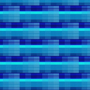 Filtered Blue with Stripes