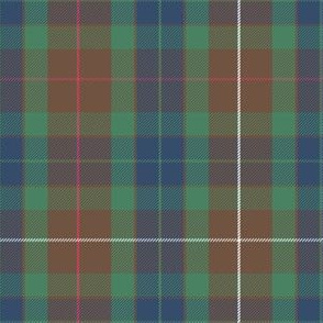 "Fraser hunting tartan, 6"", modern colors"