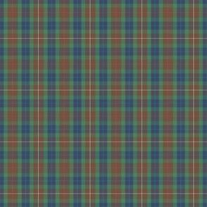 "Fraser hunting tartan, 2"" (1/3 scale), modern colors"