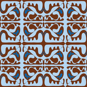 Lahaina Two Step - Brown Blue