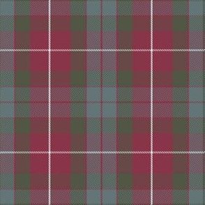 Fraser red weathered tartan, 6""