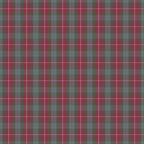 "2"" (1/3 scale) Fraser red weathered tartan"