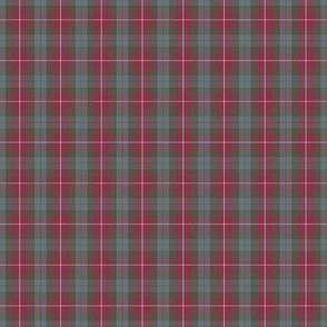 "Fraser red tartan, 2"" weathered"