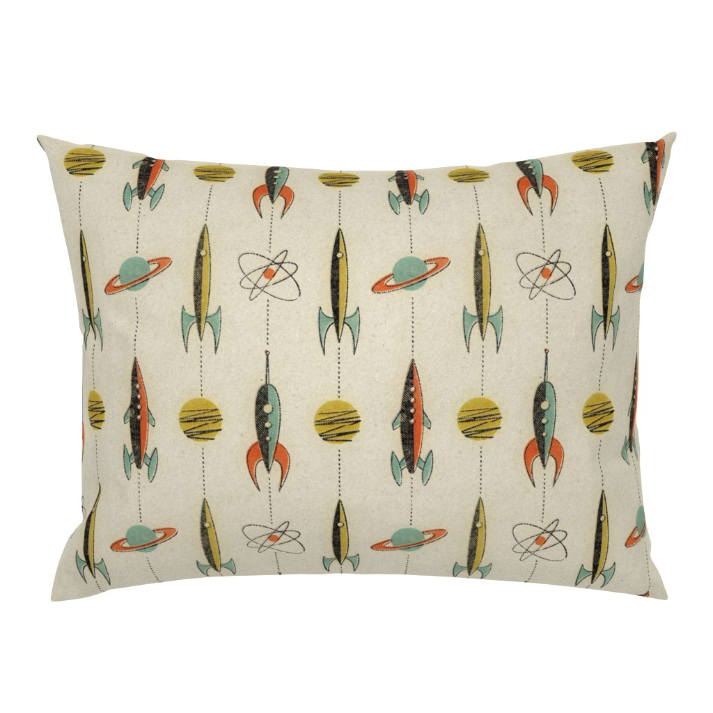 Campine Pillow Sham featuring Retro rockets by mumbojumbo