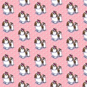 Shih Tzu Pink Small Print