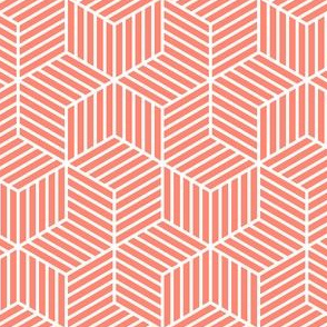 03900070 : chevron 6 bars : coral