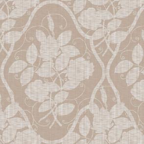 Victorian Rose Ogee ~ Linen on  Linen Luxe