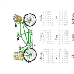 2012 Linen Calendar - Green and Blue