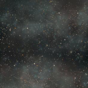 Dark Starfield and Nebula