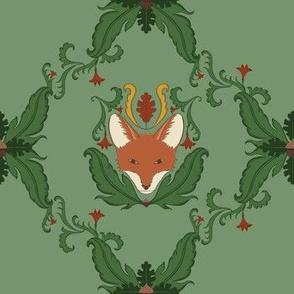 Simple Fox Damask