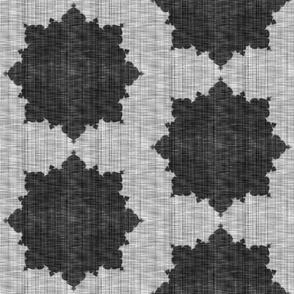 Starburst ~ Black and White Linen Luxe