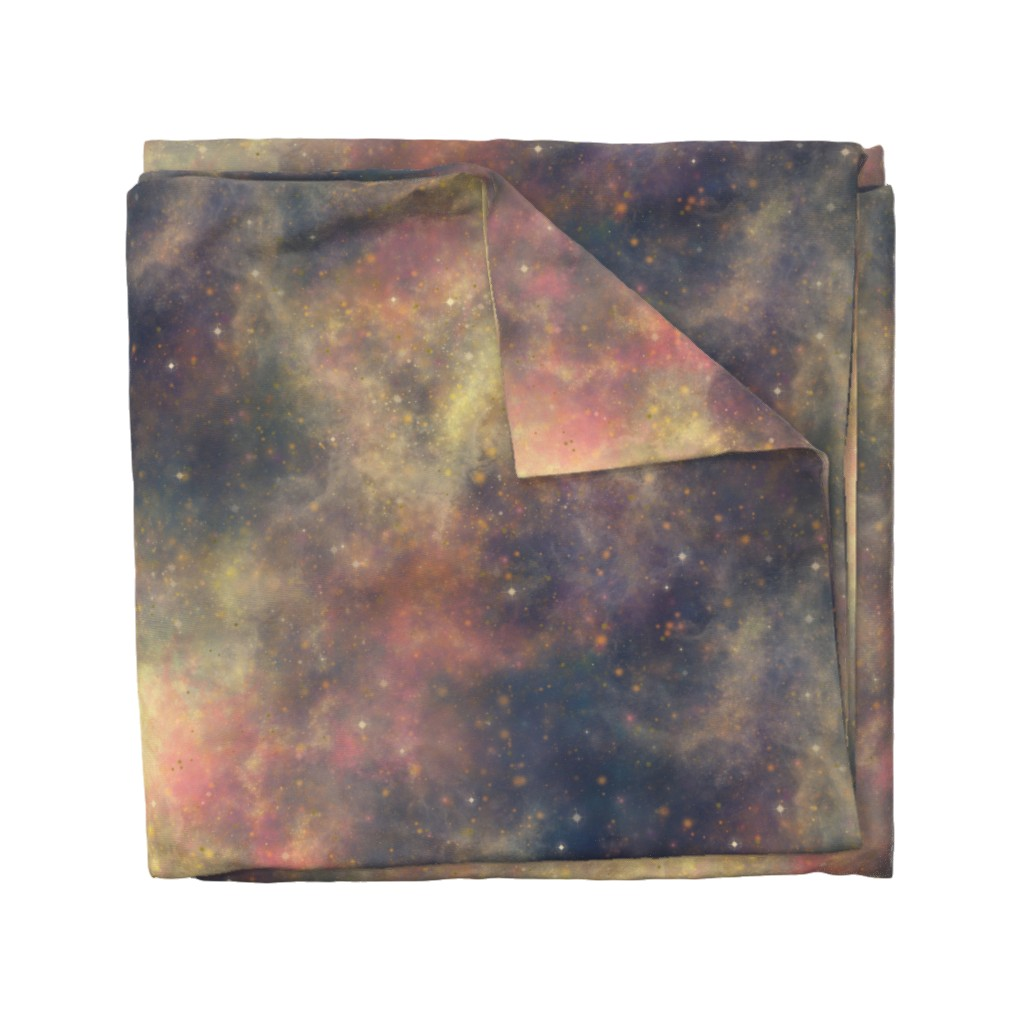Wyandotte Duvet Cover featuring Light Nebula by cellesria