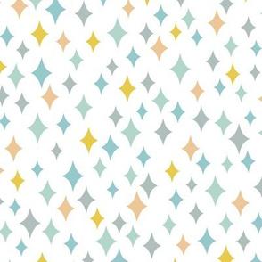 Diamond Sky (Multi on White)