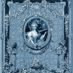 Rococo Frame ~ Mademoiselle Rosette Blue and White