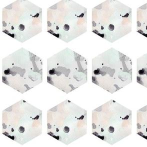 watercolor hexagons