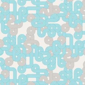 Geometric Twist in blue