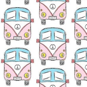 camper pink turquoise