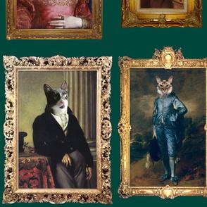 Pet Portrait Gallery - Large - Teal