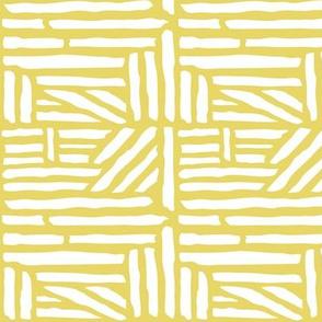Driftwood - Geometric Citron Yellow